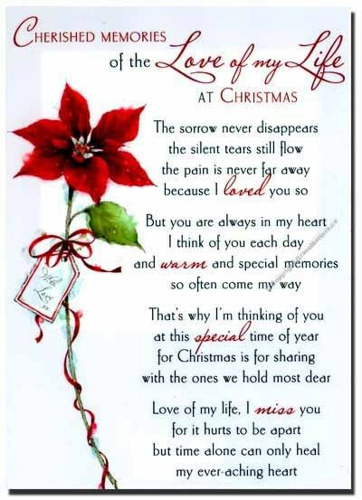 Missing My Husband At Christmas Quotes: Grave Card / XMAS Love Of My Life - FREE Holder-CMX06