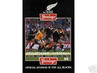 NEW ZEALAND v AUSTRALIA 1991 RUGBY PROGRAMME 24 August