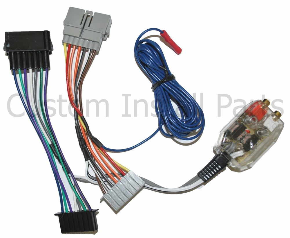 factory radio add a amp amplifier sub interface wire harness inline converter ebay RCA Speaker Wire Polarity RCA Speaker Wire Polarity