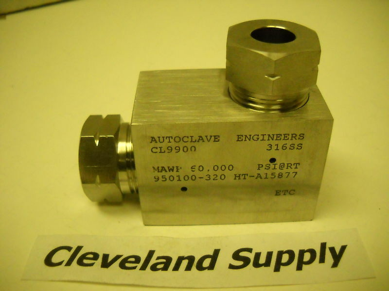 Autoclave cl fitting elbow high pressure psi ebay
