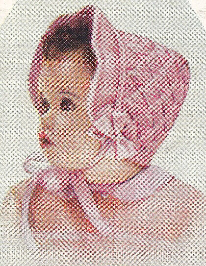Knitting Needles Case Pattern : Vintage Knitting PATTERN to make Baby Toddler Smocked Bonnet Angora KnitSmock...