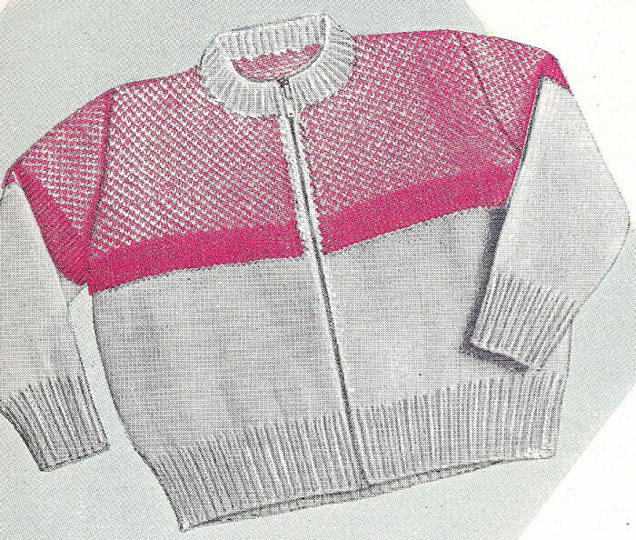 Free Knitting Patterns For Zippered Sweaters : Knitting PATTERN Toddler Cardigan Sweater Zipper Front eBay