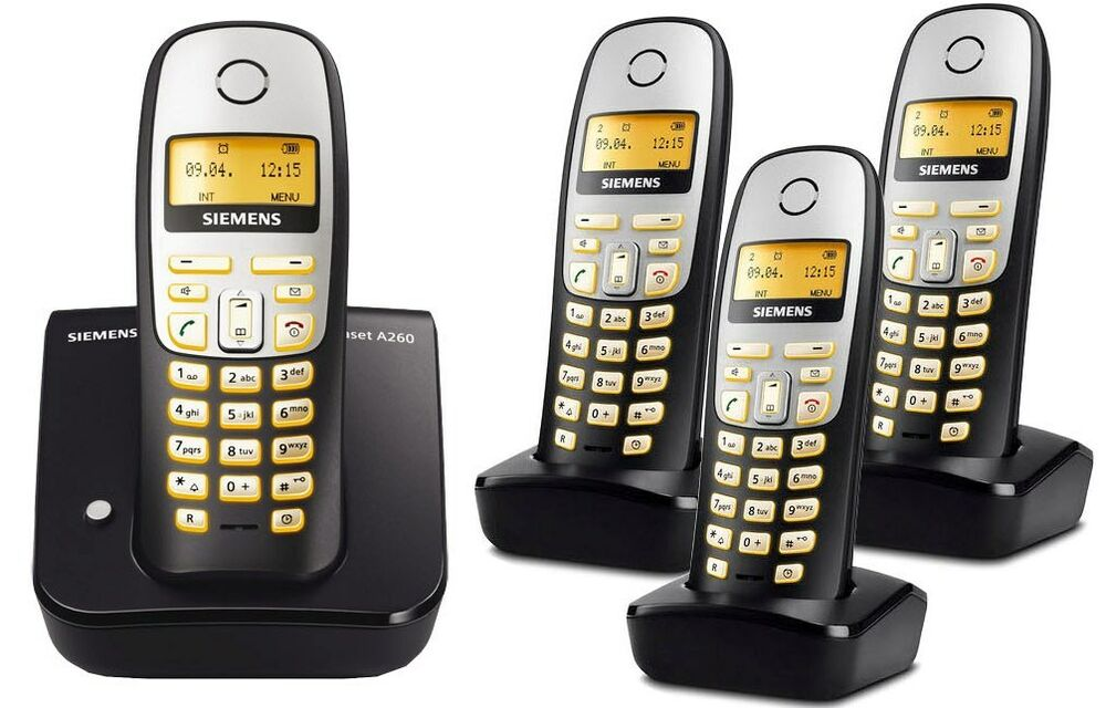 siemens gigaset a260 schnurlos analog telefon mit 4. Black Bedroom Furniture Sets. Home Design Ideas