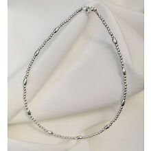 Sterling Silver Oval Bracelet or Ankle Bracelet (2804)