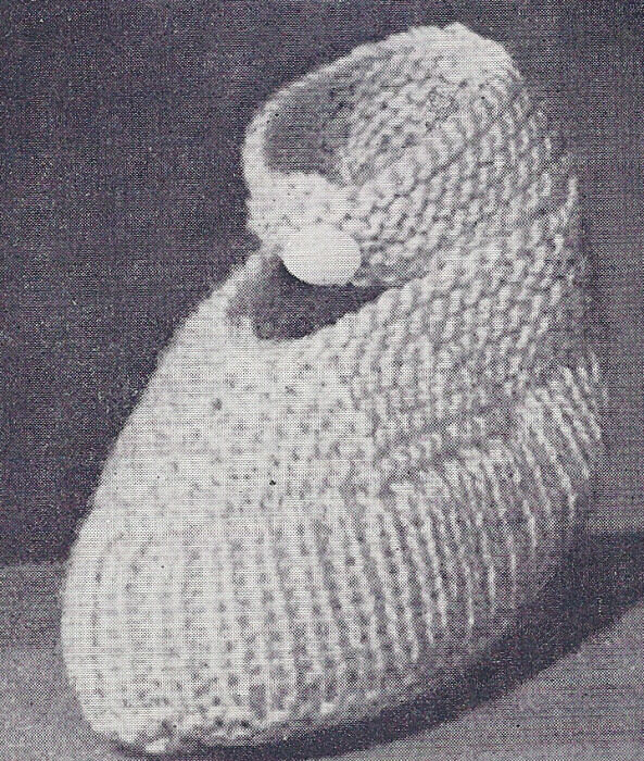 Vintage Knitting Patterns For Babies : Vintage Knitting PATTERN Ankle Baby Booties Soft Shoes eBay