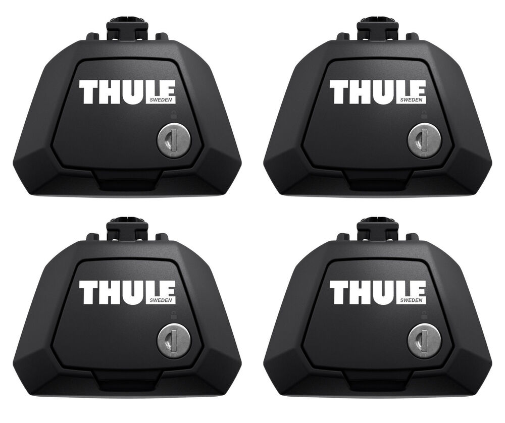 Thule 7104 Evo Clamp Foot Pack Set Of 4 Lockable For