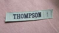 "BLACK & KHAKI MILITARY NAME TAG  "" THOMPSON """