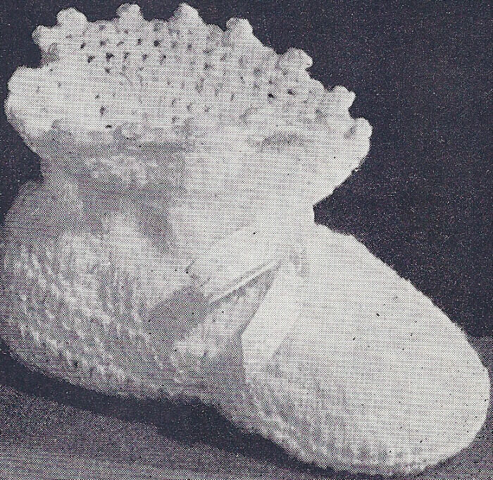 Vintage Crochet PATTERN to make Baby Booties Old Fashioned ...