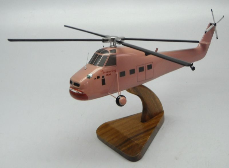 Elicottero S 58 : Screaming mimi s t sikorsky helicopter wood model small