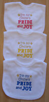 I'm My Uncle's Pride And Joy Embroidered Baby Bib