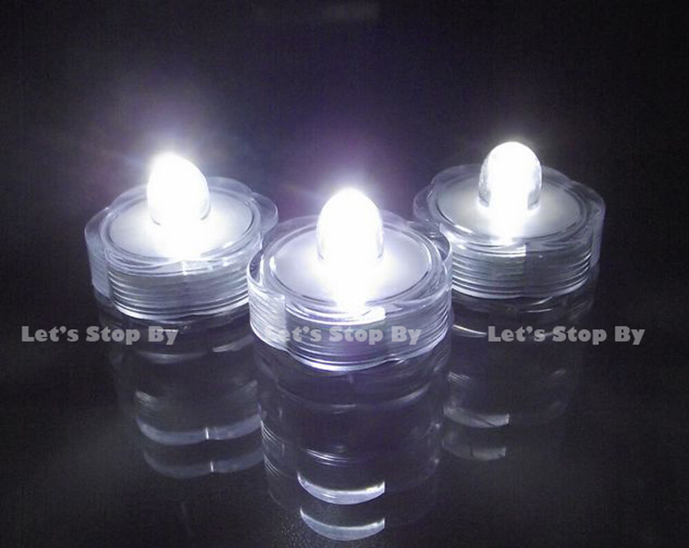 36 led white submersible wedding battery decor light ebay for Led craft lights battery
