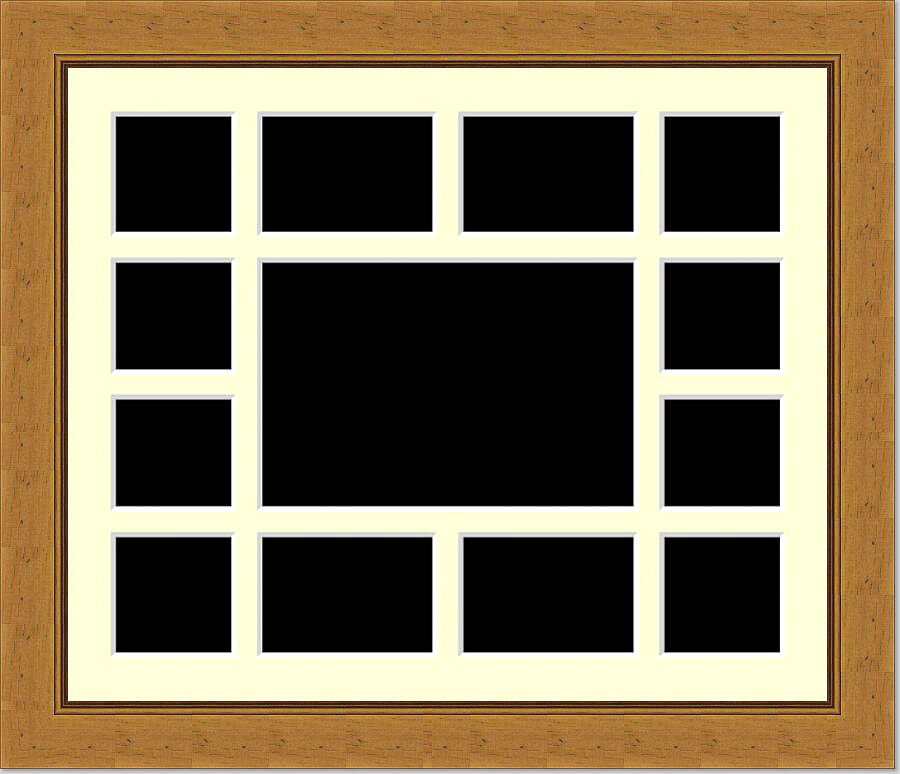 Multi Aperture Picture Photo Collage Frame To Hold 13