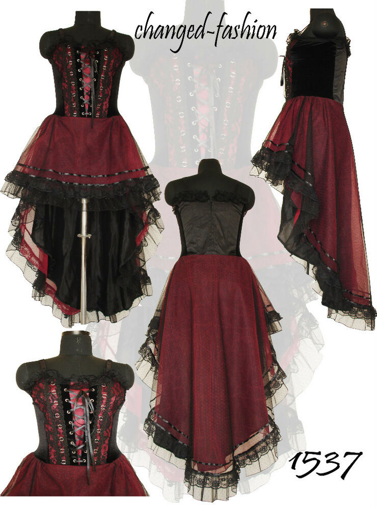 Gothic Corset Dress Long Maroon Plus Size Sale 1537 XXL | eBay