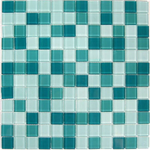 Crystal glass tile glass mosaic for counter top 9 ft ebay for Mosaic tile bar top