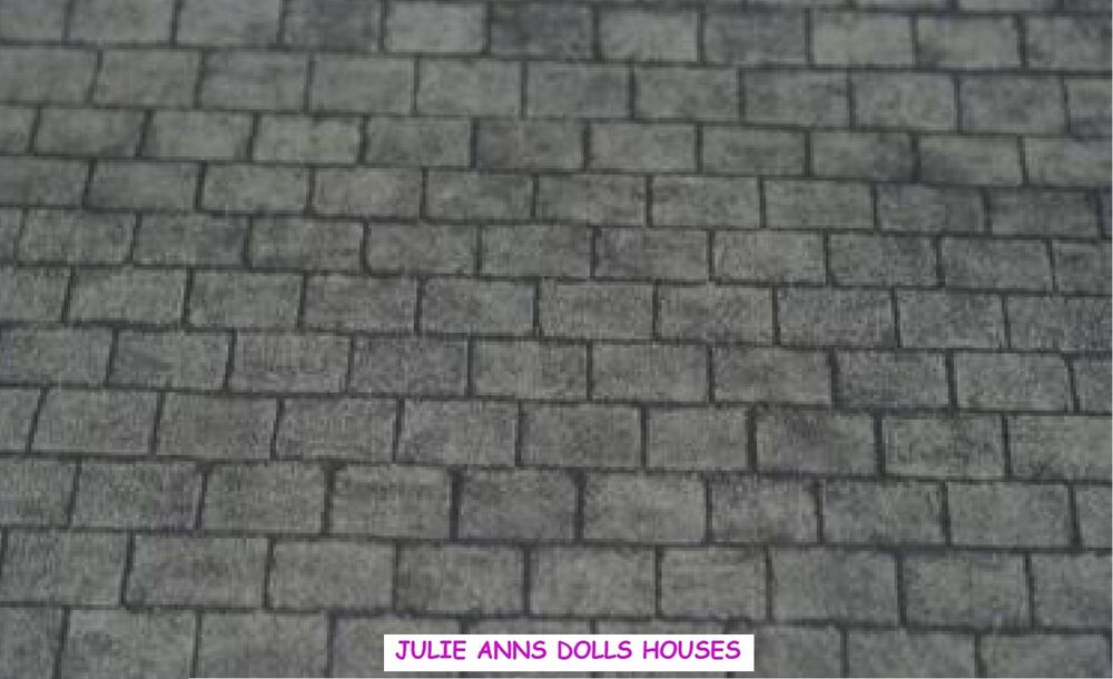 Dolls House Grey Slate Roof Miniature Wall Paper 12 Th