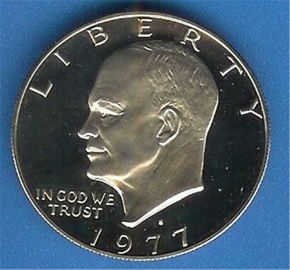 1977 Proof Eisenhower Dollar Deep Cameo Ebay