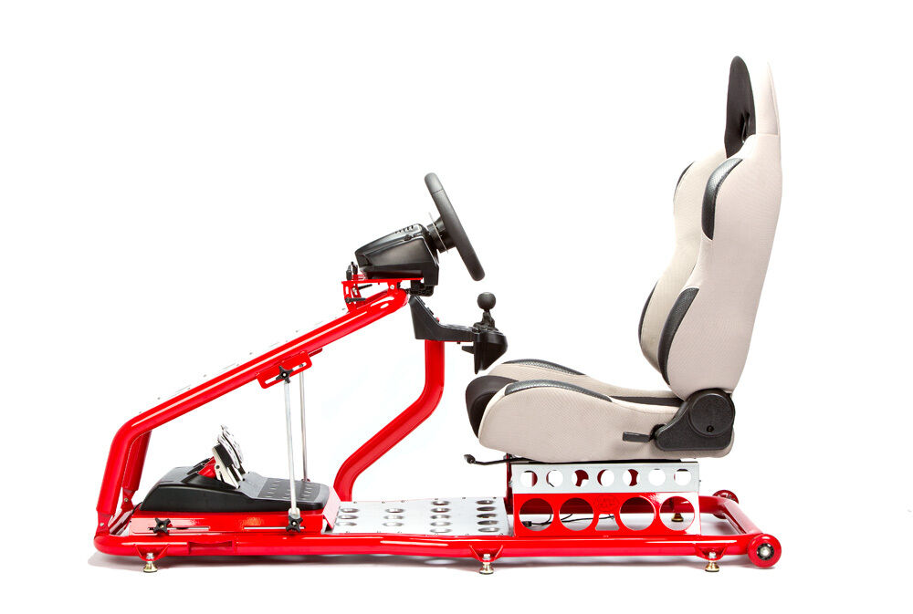 Race Gaming Game Simulation Racing Chair Seat Red Gray