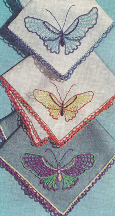Vintage Crochet PATTERN Butterfly Motif Applique Design | eBay