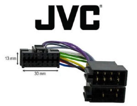 c ble adaptateur iso autoradio jvc 16 pins ebay. Black Bedroom Furniture Sets. Home Design Ideas