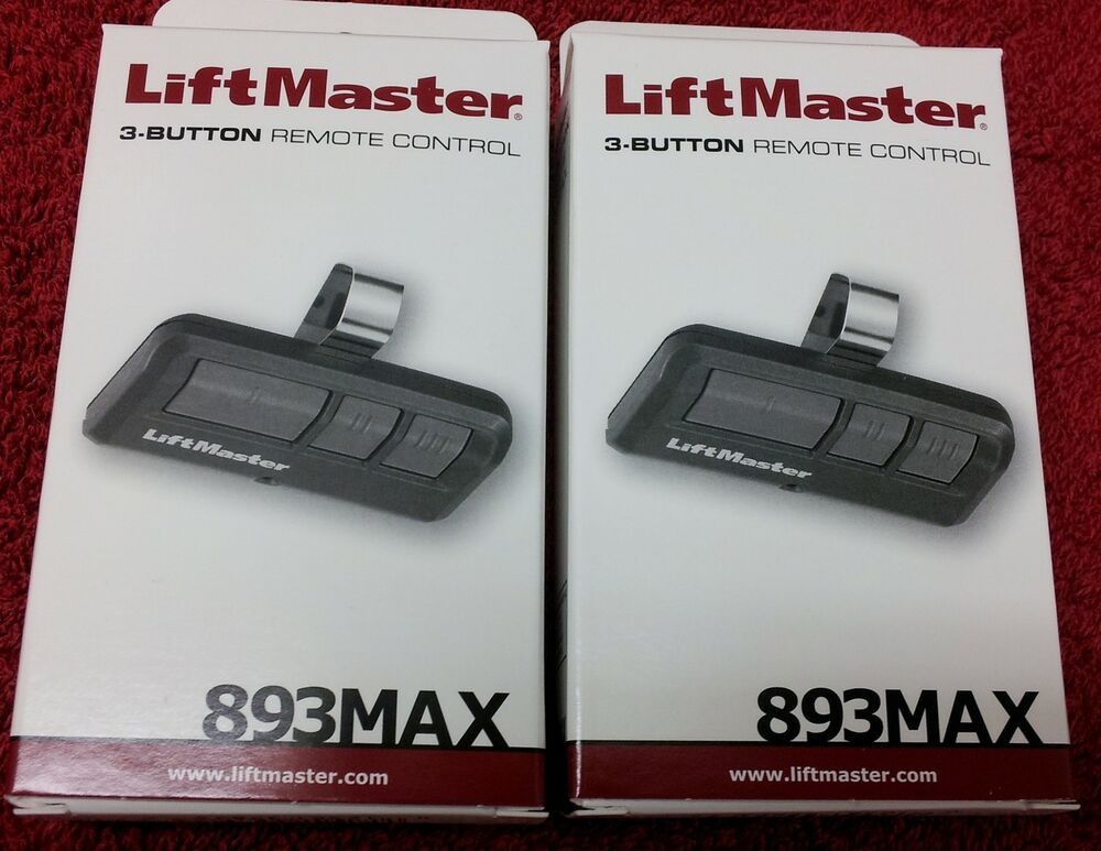 893max Liftmaster 2 Pack Universal Three Button Remote