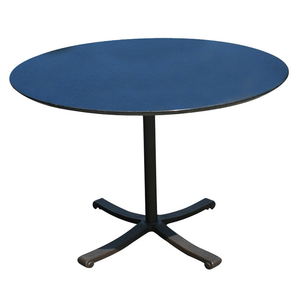 """1950s American Mid Century Modern Small Round Top: 42"""" Round Black Granite Top And Brass Base Dining Table"""