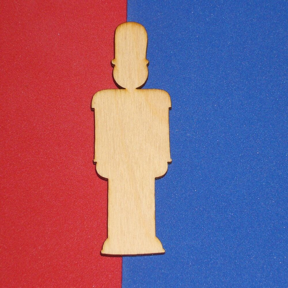 Toy soldier unfinished wood shape cut out ts1963 crafts for Unfinished wood pieces for crafts