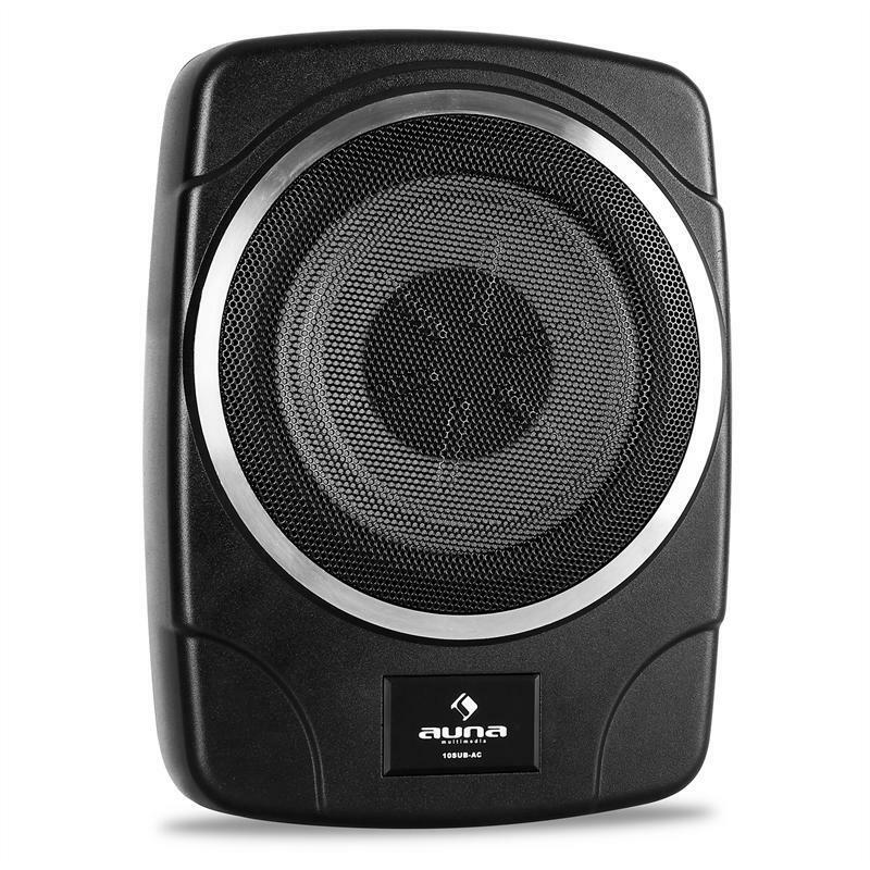 auna 25cm auto aktiv metall subwoofer 250w max bass box. Black Bedroom Furniture Sets. Home Design Ideas