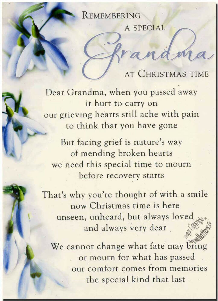 Christmas grave card special grandma free holderc113 ebay for What to get grandma for mother s day
