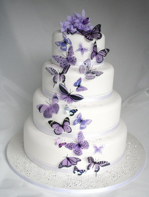 Cake Decor And More E U : 20 Mauve Butterflies for Cakes and Decorations eBay