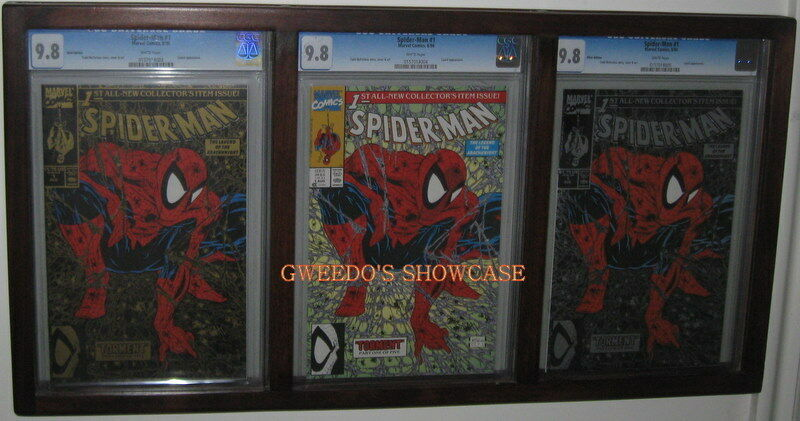 triple 3 cgc graded comic book frame display your best available in 7 colors ebay