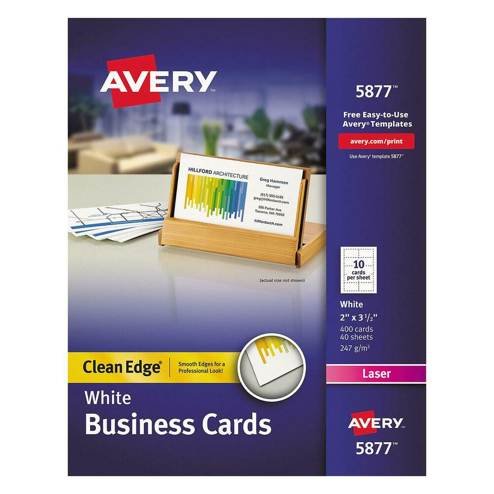 Avery 8877 TWO SIDE CLEAN EDGE 400 Business Cards InkJet