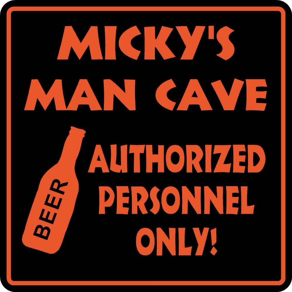 Man Cave Signs To Buy : Personalized custom name man cave bar beer den garage