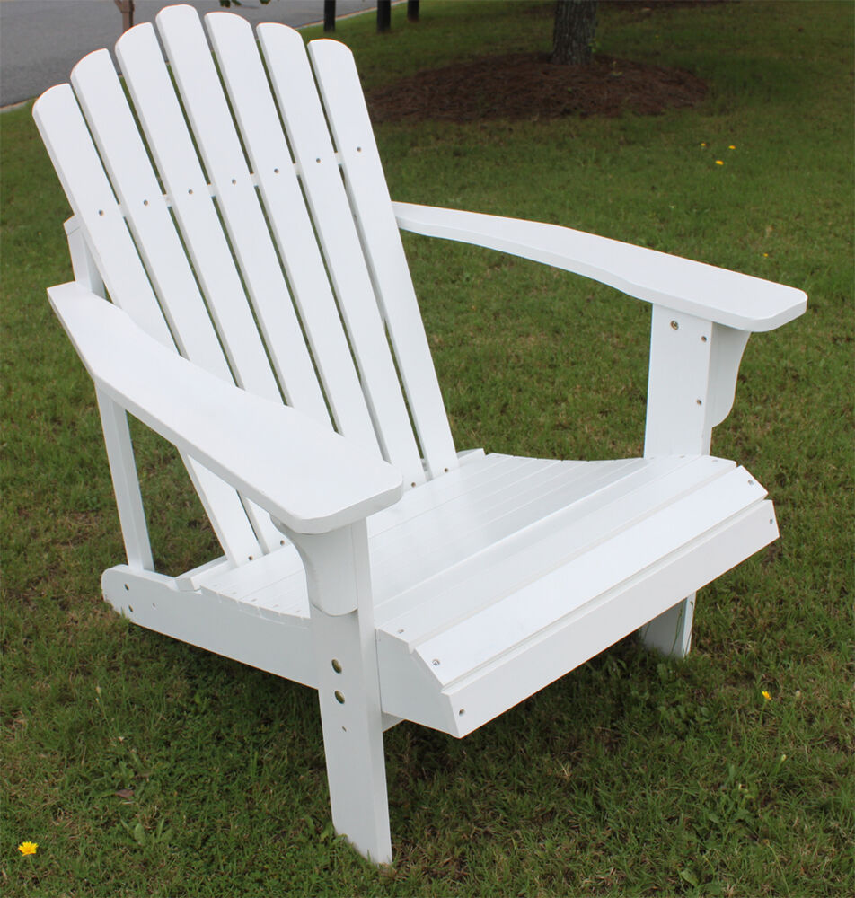 7 slat hardwood wood adirondack chair outdoor deck pool for By the yard furniture