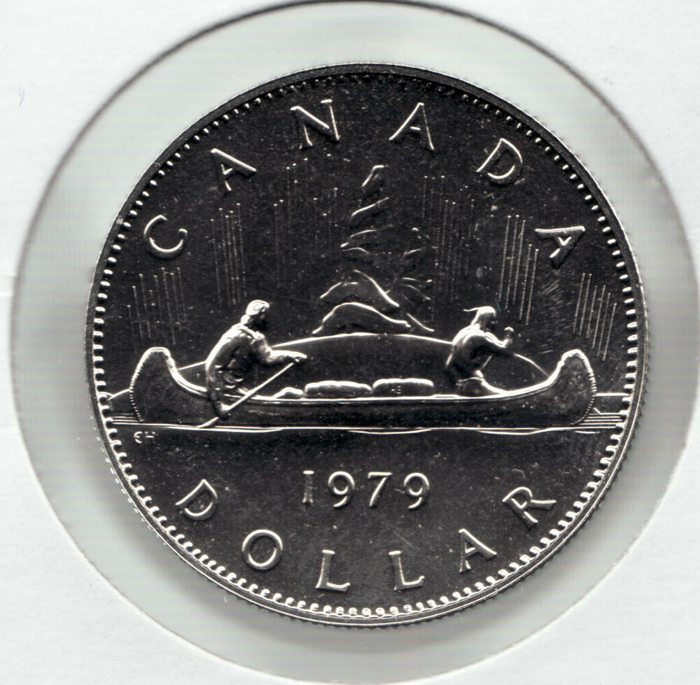 1979 Uncirculated Canada 1 Coin Voyageur Queen