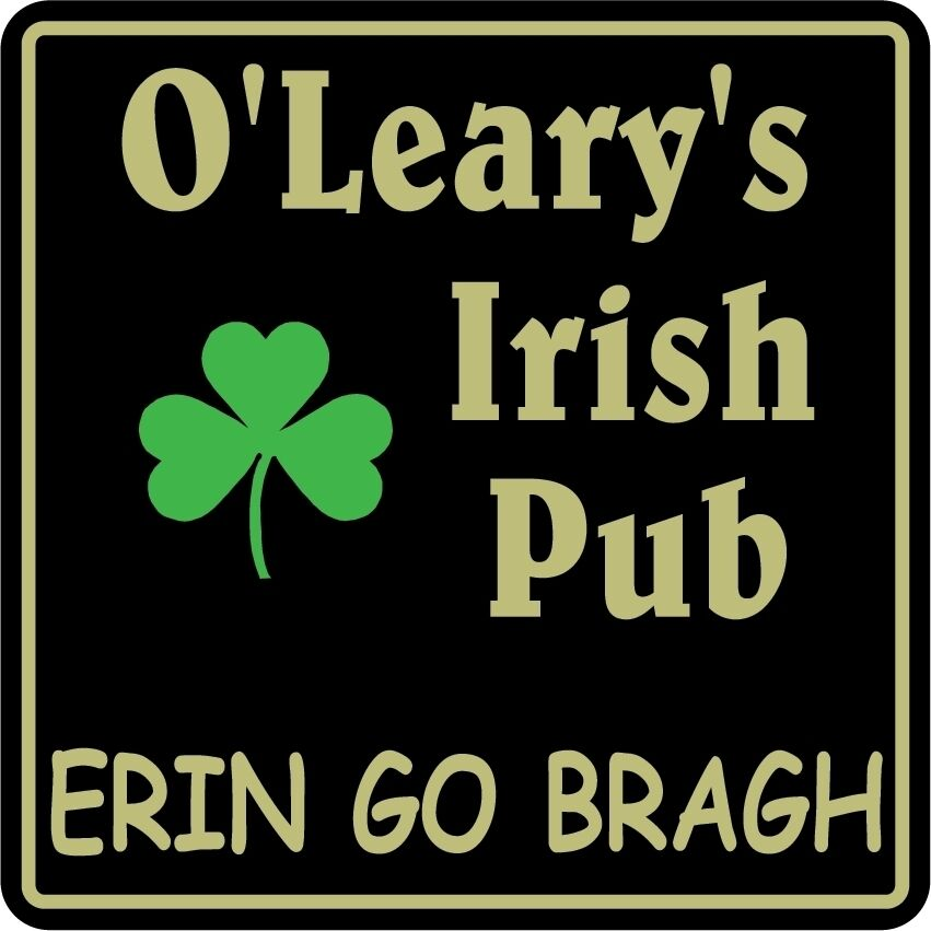 Personalized Irish Pub Bar Beer Home Decor Gift Plaque