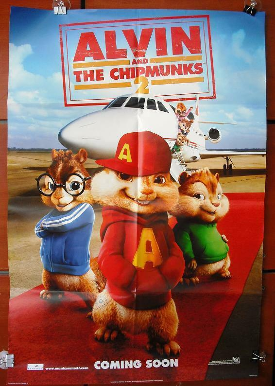alvin and the chipmunks org  40x27 ds movie poster 2007
