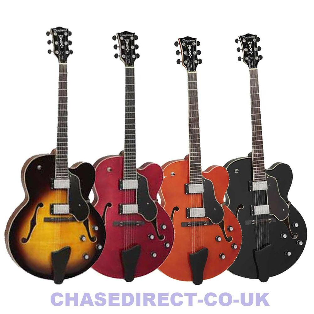 tanglewood electric guitar tsb 49 jazz semi acoustic 335 type deep body archtop ebay. Black Bedroom Furniture Sets. Home Design Ideas