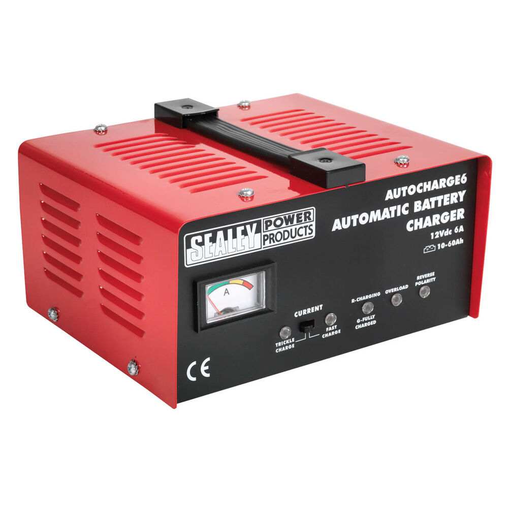 Sealey 12v 6amp Automatic Car Motor Bike Battery Trickle Charger Autocharge6 Ebay