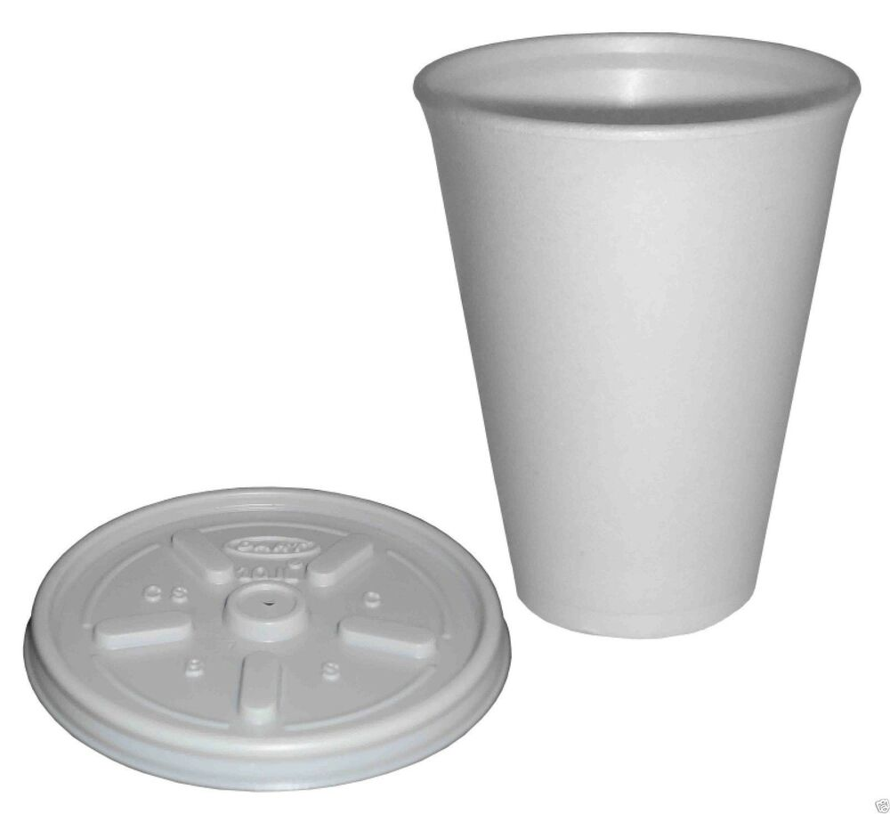 Cup With Lid : Polystyrene oz insulated foam tea coffee dart cups with