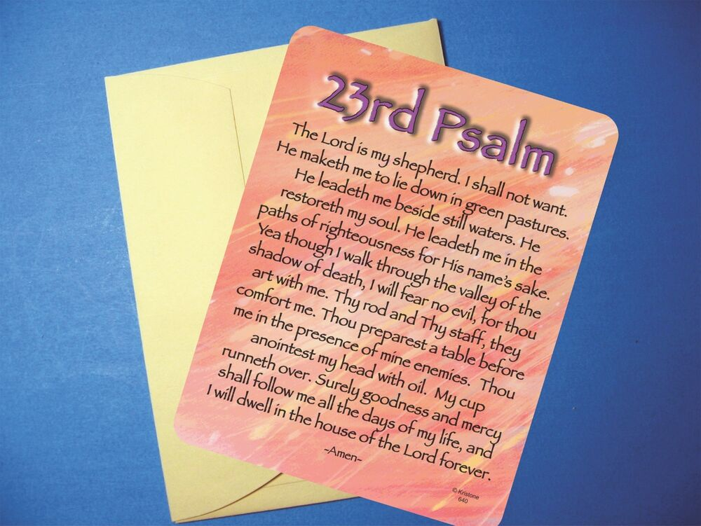 sermons or essays on 23rd psalm Psalm 23:1-6 the lord is my shepherd dr philip w mclarty i'd like to take a few moments this morning to think about the 23rd psalm it's, by far, one of the.
