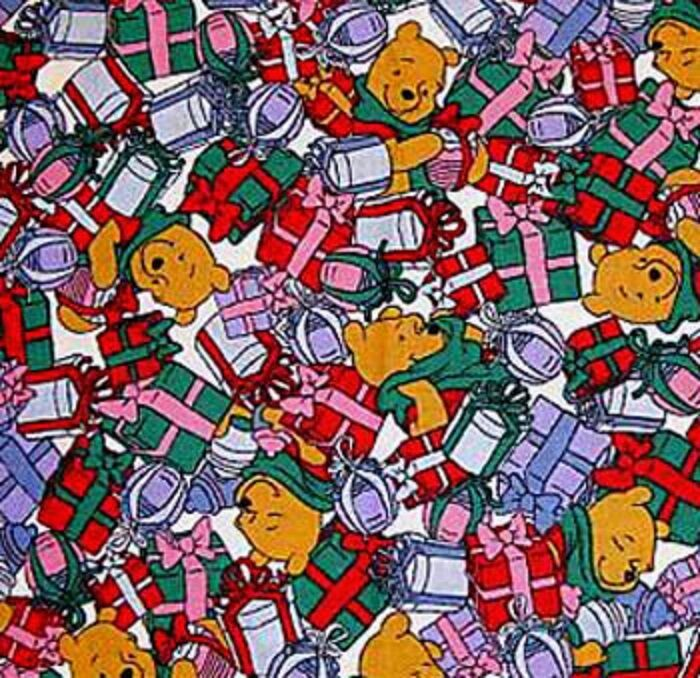 Disney S Winnie The Pooh Christmas Pre Quilted Cotton