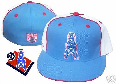 Houston Oilers Hat Cap NFL Throwback Fitted Size 7 1 8 Reebok Throwback  Vintage  0b97c499ecdc
