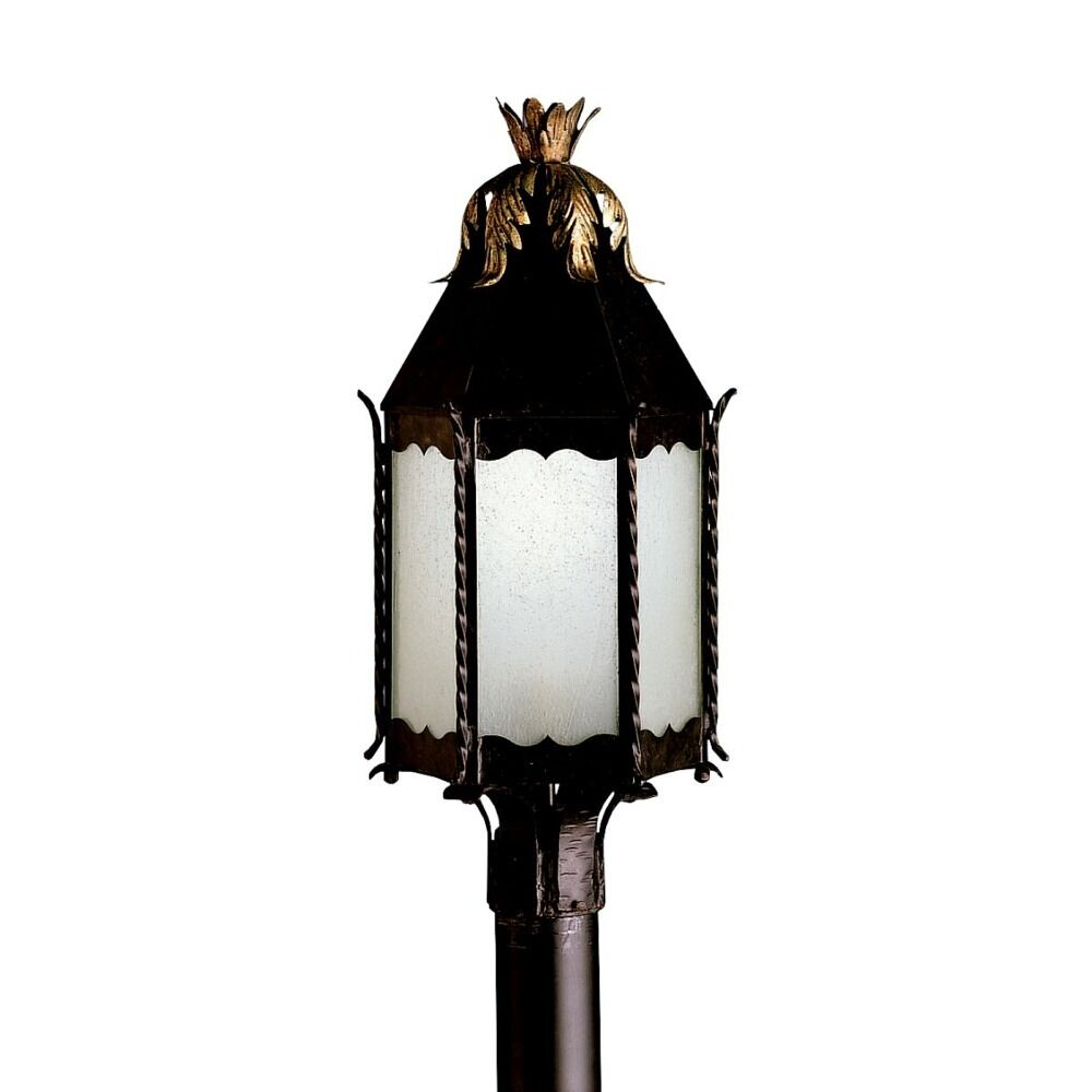KICHLER FRANCISCAN BRONZE POST TOP LIGHT FIXTURE