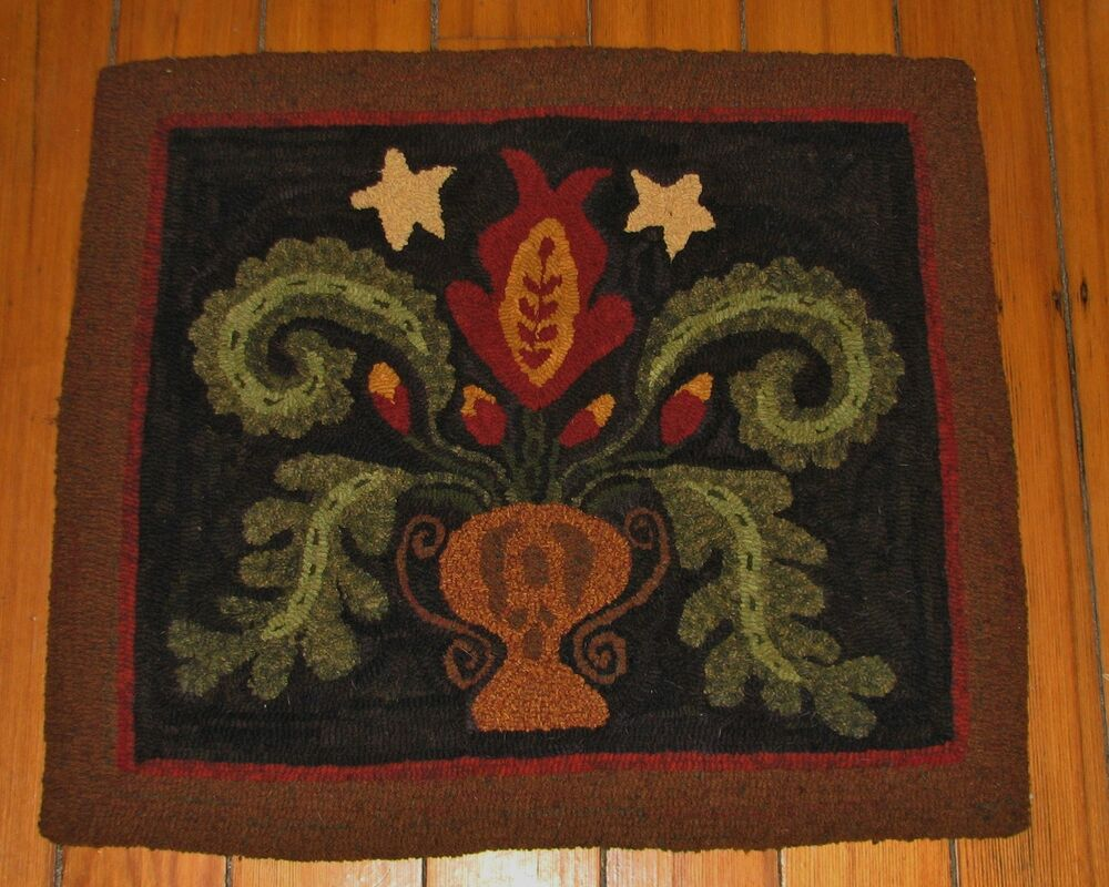 Vintage hook rug that interrupt
