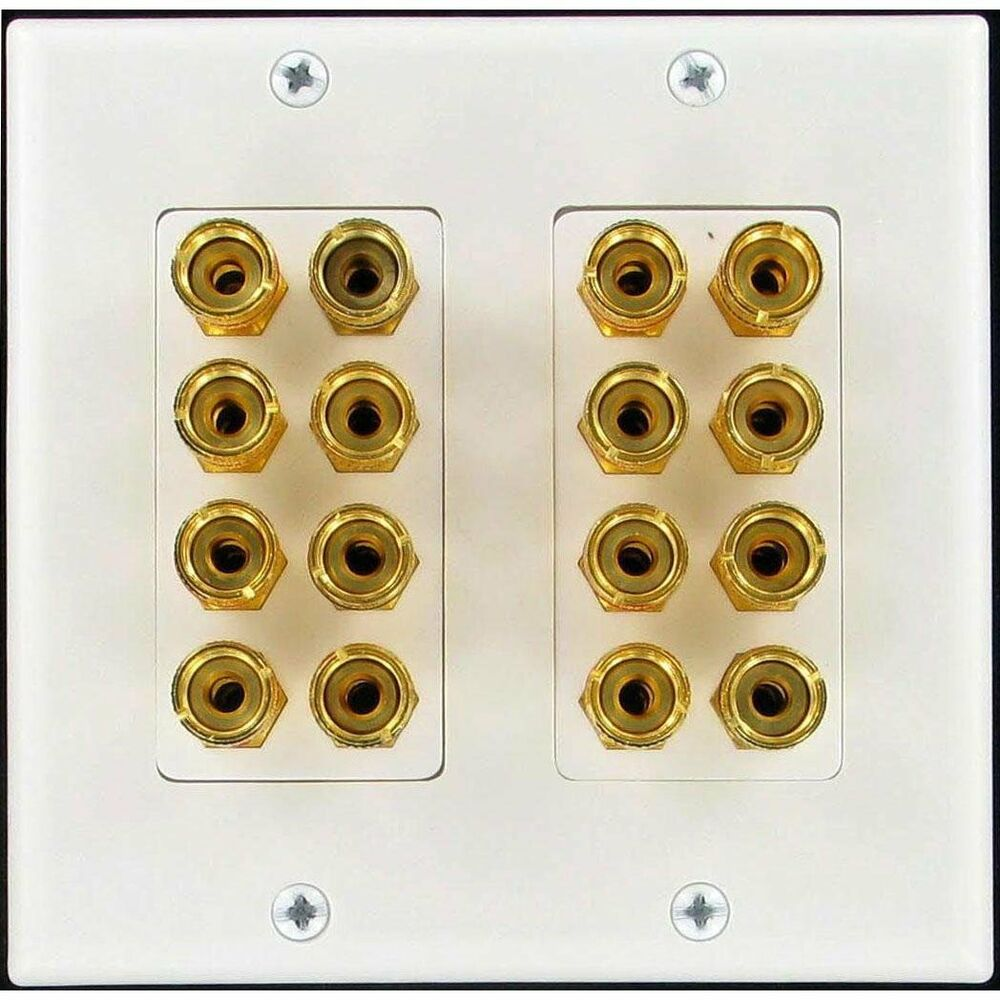 home theater wall plates 8 speaker wall plate with gold plated post home theater ebay 180