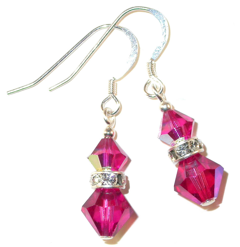 Fuchsia Pink Crystal Earrings Dangle Sterling Silver. Bamboo Watches. Male Bands. Gents Wedding Rings. Daimond Platinum. Metal Necklace. Process Diamond. V Shaped Necklace. Silver Dial Watches