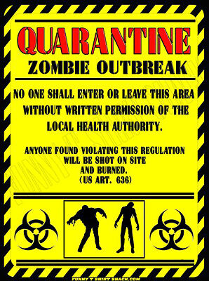 Truck Back Window Decals >> Zombie Quarantine Zombie Sticker 2 PACK - Funny Living ...