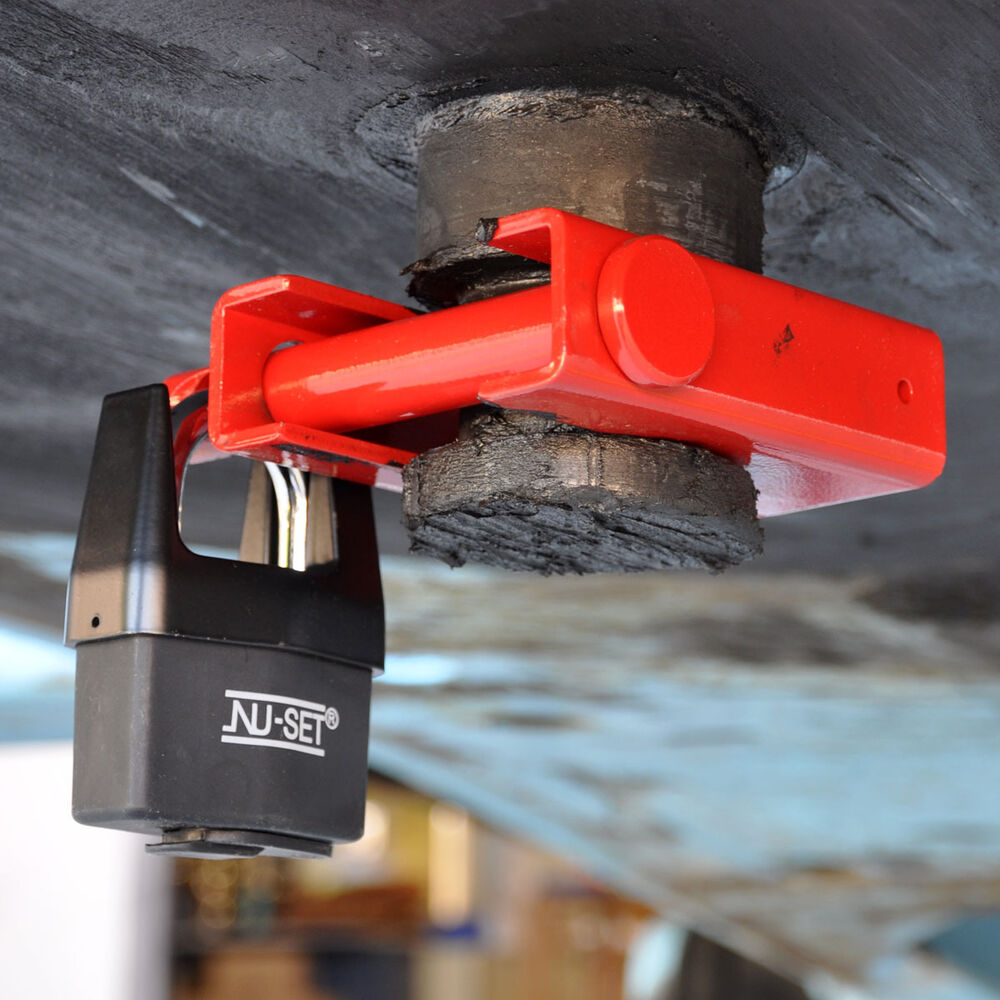 King Pin Coupler : Heavy duty king pin lock coupler trailer locks w shrouded