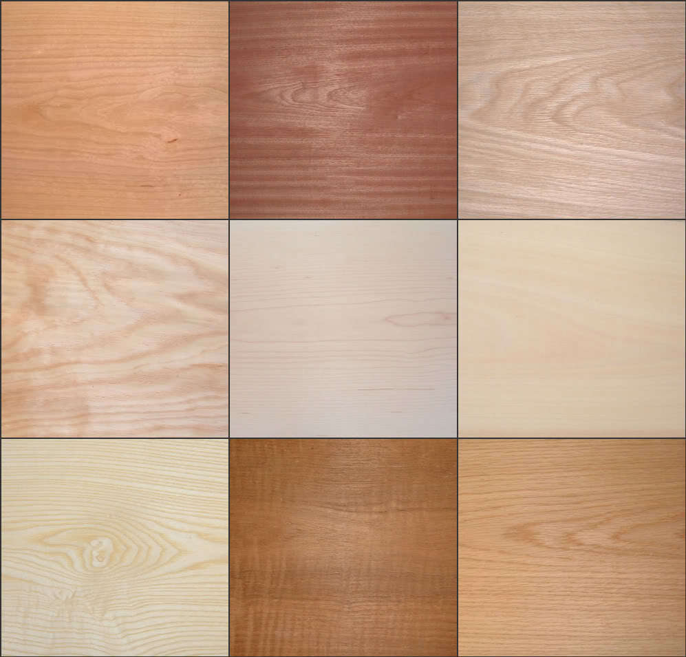 Iron on real wood veneer pre glued sheets choice of two