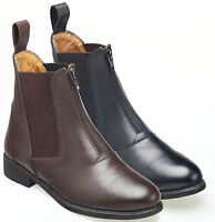Harry Hall Hartford Zip Front Leather Jodhpur Boot   all sizes 2 colours